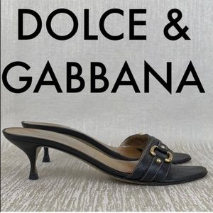 👑 DOLCE & GABBANA HEELED SANDALS 💯AUTHENTIC
